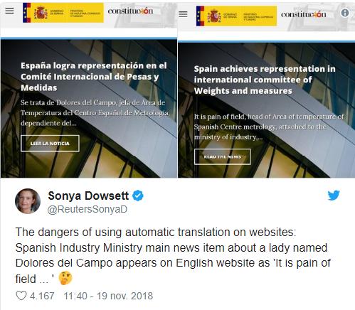 traducción automatica tweet